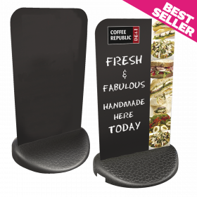 Ecoflex 2 HPL Chalkboard Panel Pavement Display. Plain or with graphics.