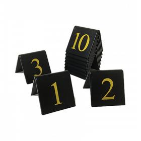 Table tent number sets. (Gold / Black)