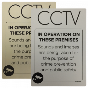 CCTV in operation on these premises with sound & images Notice