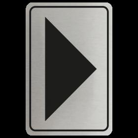 Large Arrow Door Sign - Black on Silver