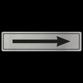 Arrow Door Sign - Black on Silver