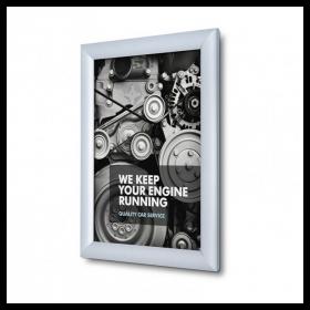 Satin Silver 25mm Poster Display Snap Frames