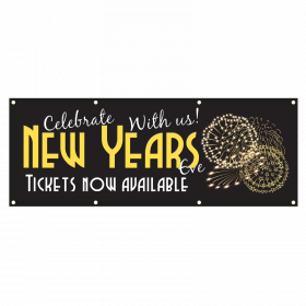 New Year Party Banners, Tickets Now Available PVC Banner