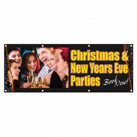 Xmas and New Year Single Sided PVC Banner