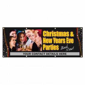 Personalised Xmas and New Year Party Vinyl Banner