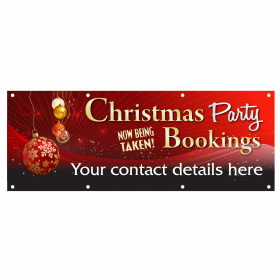 Red Personalised Christmas Party Banners