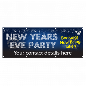 Personalised New Year Party Banners Bookings Now Being Taken Vinyl Banner