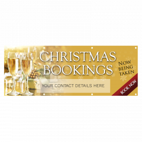 Gold Personalised Christmas Party Banners