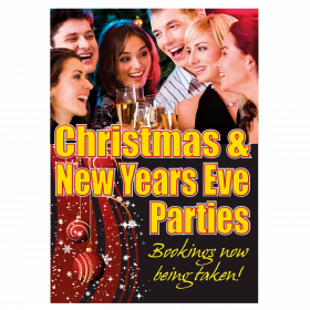 Christmas and New Years Eve Party Poster
