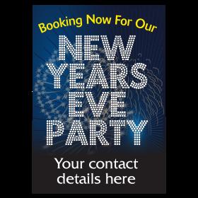 Personalised New Years Eve Party Bookings Now Being Taken Waterproof Poster