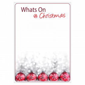 Whats On @ Christmas Writeable Waterproof Poster