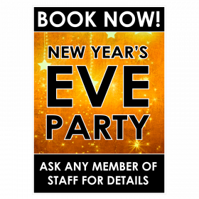 New Years Eve Party Book Now Waterproof Poster