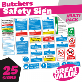 Butchers Catering Safety Sign Pack