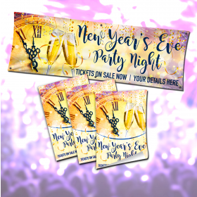 New Years Eve Party Night Poster and Banner Advertising Bundle.
