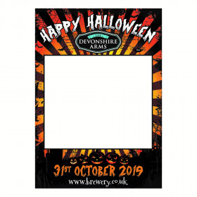 Happy Halloween Photo Booth Selfie Frame. A1 Portrait