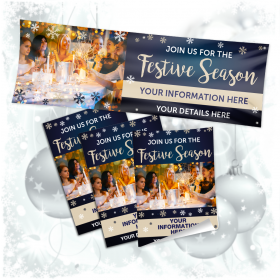 Personalised Join us this Festive Season Banner & Poster Bundle