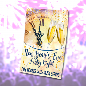 Personalised New Years Eve Party Night waterproof posters. Sizes available A3, A2 & A1