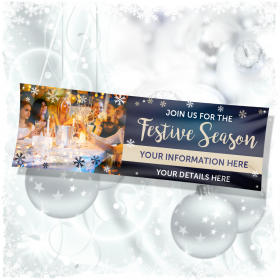 Large Christmas Banners | Join us for the Festive Season