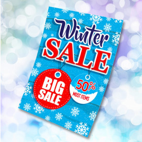 Winter Sale Now On waterproof poster. Sizes available A3, A2 & A1