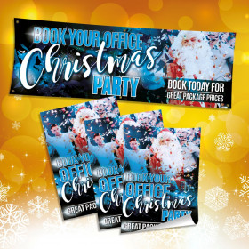 Book your Office Christmas Party banner & Poster Bundle.