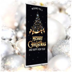 Merry Christmas Pop Up Banners 850x2000mm