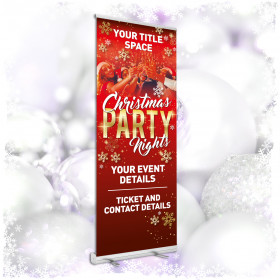 Personalised Christmas Party Roller Banners 850x2000mm