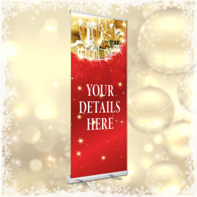 Personalised Christmas Bookings now being taken roller banner. 850x2000mm