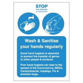 Please wash & sanitise your hands regularly vinyl sticker