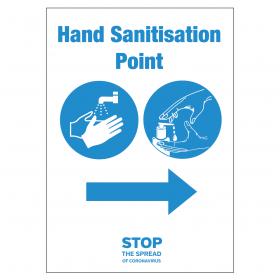 Your nearest Hand Sanitation Point Station arrow right vinyl sticker