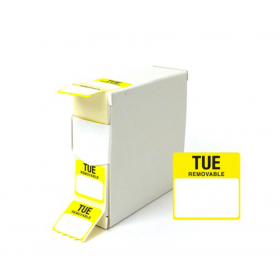 Tuesday Day Dot Food Labels - 25x25mm
