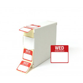 Wednesday Day Dot Food Labels - 25x25mm
