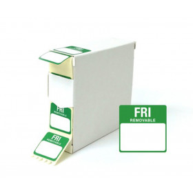 Friday Day Dot Food Labels - 25x25mm