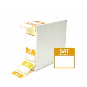 Saturday Day Dot Food Labels - 25x25mm