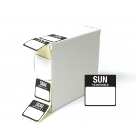 Sunday Day Dot Food Labels - 25x25mm