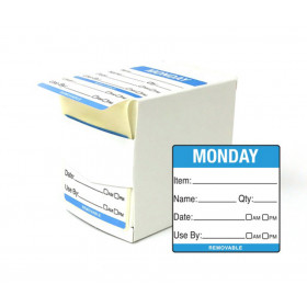 Monday Day Dot Food Labels - 50x50mm