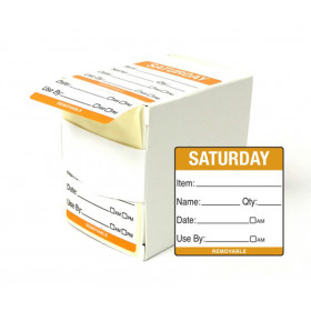 Saturday Day Dot Food Labels - 50x50mm