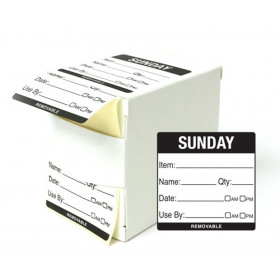 Sunday Day Dot Food Labels - 50x50mm