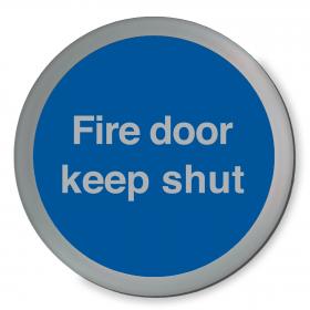 Fire Door Keep Shut Disc Sign
