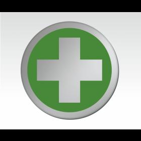 First Aid Symbol Satin Silver Door Disc