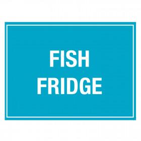 Fish Fridge Storage Notice - Self Adhesive Vinyl