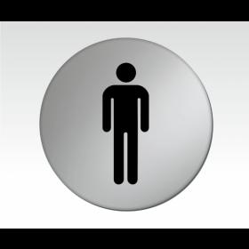 Gents Symbol Satin Silver Toilet Door Disc
