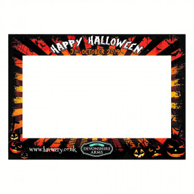 Happy Halloween Photo Booth Selfie Frame. A2 Landscape