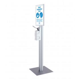 Freestanding Hand Sanitiser Dispenser complete with A3 Snap Frame
