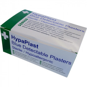 HypaPlast Blue Catering Plasters, 7.2x2.5cm (Pack of 100)