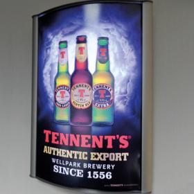 Illuminated D-Light Poster Display