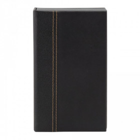 Trendy Black Leather Style Restaurant Bill Presenter Box - Size 4 x 18.3 cm