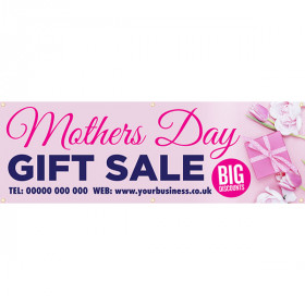 Personalised Mother's Day Gift Sale Banner