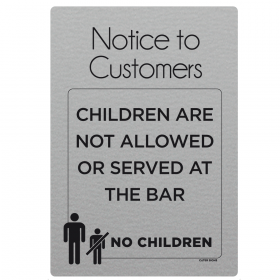 No Children Allowed At The Bar Notice