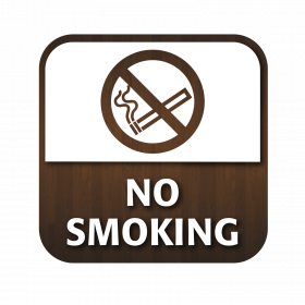 No Smoking Window Sticker