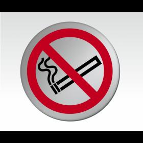 No Smoking Symbol Satin Silver Door Disc